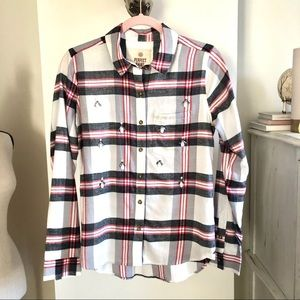 NWOT SQ Flannel Shirt. Size S